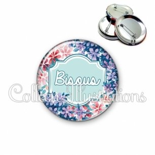 Badge 56mm Bisous (141MUL01)
