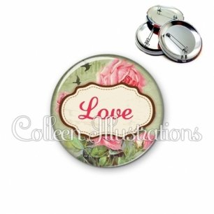 Badge 56mm Love (143MUL01)