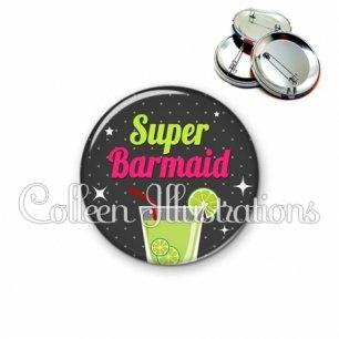 Badge 56mm Super barmaid (157GRI01)