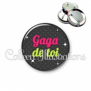 Badge 56mm Gaga de toi (157GRI02)
