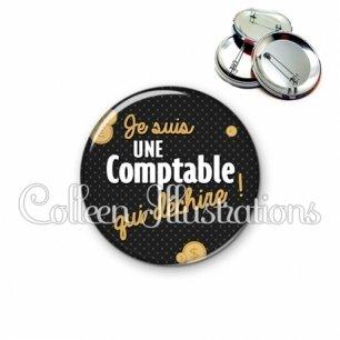 Badge 56mm Comptable qui déchire (158GRI01)