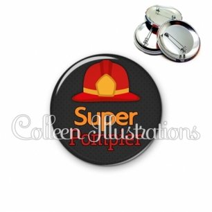 Badge 56mm Super pompier (160GRI01)