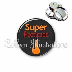 Badge 56mm Super pompier (160GRI02)