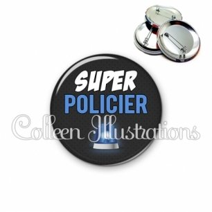 Badge 56mm Super policier (162GRI01)
