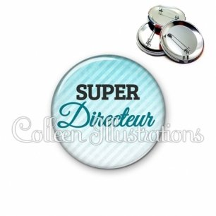 Badge 56mm Super directeur (164BLE01)