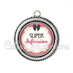 Pendentif résine Super infirmière (008ROS01)