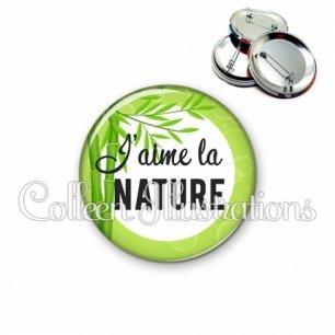 Badge 56mm J'aime la nature (165VER01)