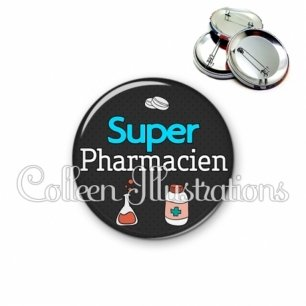 Badge 56mm Super pharmacien (166GRI01)