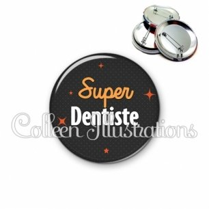 Badge 56mm Super dentiste (169GRI01)