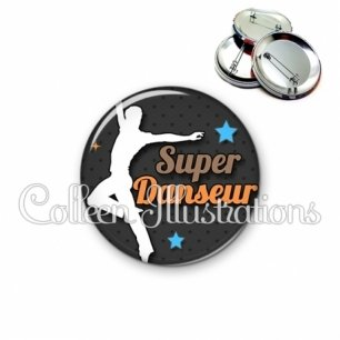 Badge 56mm Super danseur (175GRI01)