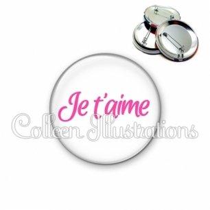 Badge 56mm Je t'aime (181BLA01)