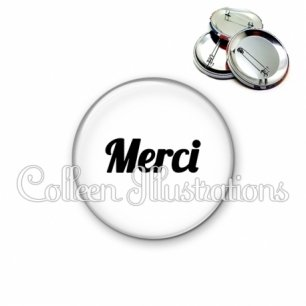 Badge 56mm Merci (181BLA11)