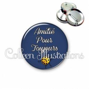 Badge 56mm Amitié pour toujours (181BLE01)