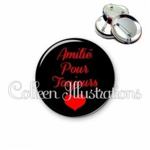 Badge 56mm Amitié pour toujours (181NOI01)