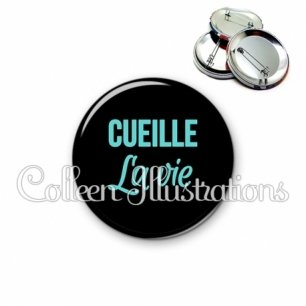 Badge 56mm Cueille la vie (181NOI04)