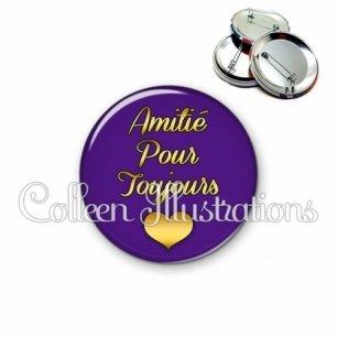 Badge 56mm Amitié pour toujours (181VIO01)