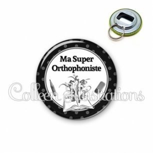 Décapsuleur 56mm Ma super orthophoniste (001NOI02)