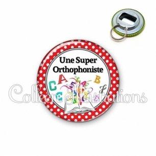 Décapsuleur 56mm Une super orthophoniste (001ROU03)