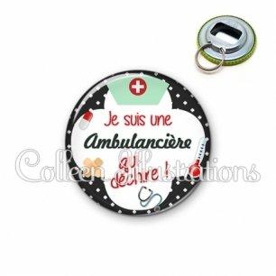 Décapsuleur 56mm Ambulancière qui déchire (002NOI01)