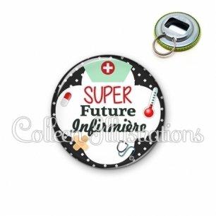 Décapsuleur 56mm Super future infirmière (002NOI01)