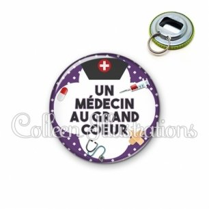 Décapsuleur 56mm Médecin au grand cœur (002VIO01)