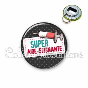 Décapsuleur 56mm Super aide-soignante (003NOI05)