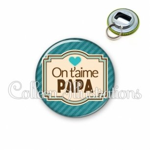 Décapsuleur 56mm Papa on t'aime (004BLE04)