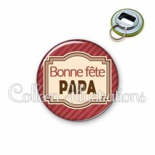 Décapsuleur 56mm Bonne fête papa (004ROU01)