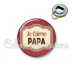 Décapsuleur 56mm Papa je t'aime (004ROU01)