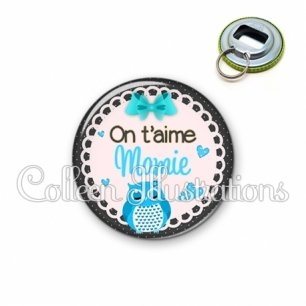 Décapsuleur 56mm Mamie on t'aime (005BLE01)