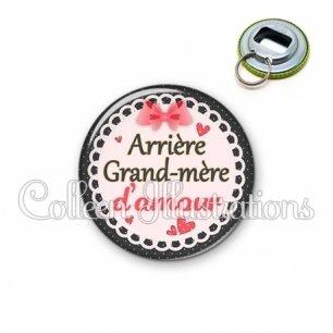 Décapsuleur 56mm Arrière grand-mère d'amour (005ROS01)