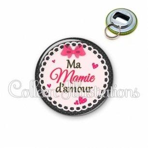 Décapsuleur 56mm Ma mamie d'amour (005ROS04)