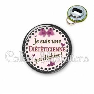 Décapsuleur 56mm Diététicienne qui déchire (005VIO01)