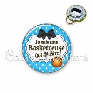 Décapsuleur 56mm Basketteuse qui déchire (006BLE19)