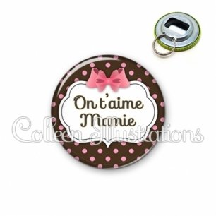 Décapsuleur 56mm Mamie on t'aime (006MAR02)