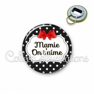 Décapsuleur 56mm Mamie on t'aime (006NOI14)