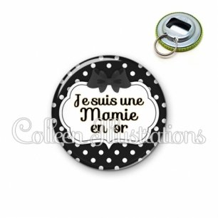 Décapsuleur 56mm Mamie en or (006NOI16)