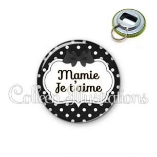 Décapsuleur 56mm Mamie je t'aime (006NOI16)