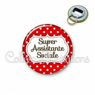 Décapsuleur 56mm Super assistante sociale (006ROU02)