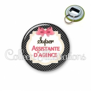Décapsuleur 56mm Super assistante d'agence (008NOI02)