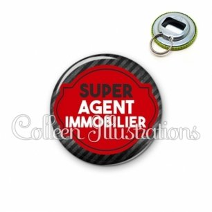 Décapsuleur 56mm Super agent immobilier (011NOI01)