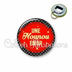 Décapsuleur 56mm Nounou en or (011NOI02)