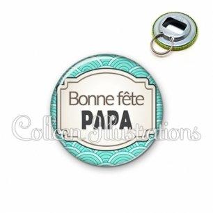 Décapsuleur 56mm Bonne fête papa (013BLE04)