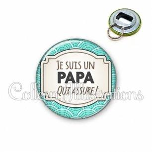 Décapsuleur 56mm Papa qui assure (013BLE04)