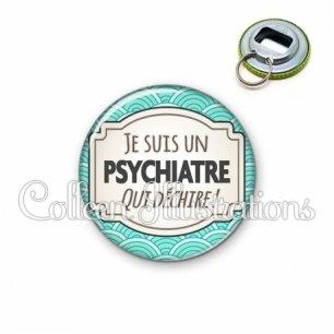 Décapsuleur 56mm Psychiatre qui déchire (013BLE04)