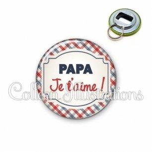 Décapsuleur 56mm Papa je t'aime (013MUL01)