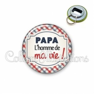 Décapsuleur 56mm Papa l'homme de ma vie (013MUL01)