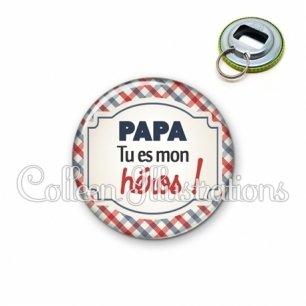 Décapsuleur 56mm Papa tu es mon héros (013MUL01)
