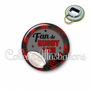 Décapsuleur 56mm Fan de rugby à XIII (016MUL04)