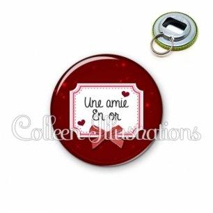 Décapsuleur 56mm Amie en or (023ROU01)